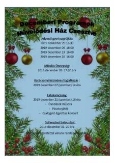 Decemberi rendezvényözön